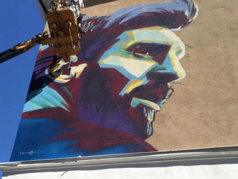 ВКазани срочно рисуют граффити сМодричем, чтобы принести удачу сборной РФ