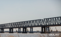 Клипарт. Сургут, мост через обь, жд мост