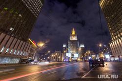 Москва, разное., высотка, мид, виды москвы, вечерний город
