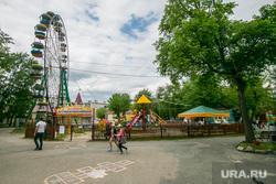 Виды города. Шадринск , аттракционы, колесо обозрения, город шадринск, городской сад имени кельдюшева
