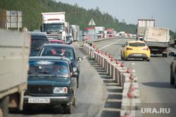 Ремонт автодорожного моста между Екатеринбургом и Первоуральском, пробка