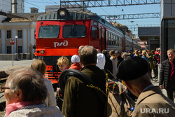 Железнодорожный вокзал Екатеринбурга, электричка, пригородные поезда, ржд, общественный транспорт, прибытие поезда, городская электричка