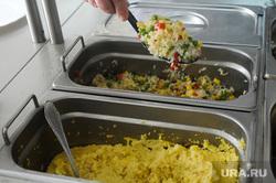 Постные блюда в столовых. Челябинск, отварной рис, пшенная каша