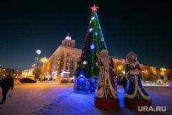 Новогодняя площадь. Курган, елка, новогодняя площадь, дед мороз и снегурочка, новый год, площадь ленина, новогодние огни