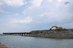 Строительство Керченского моста, экскаватор, керченский мост, крымский мост, строительство моста