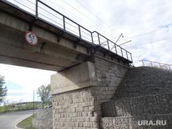 Колчаковский мост в Екатеринбурге взорванный большевиками , мост