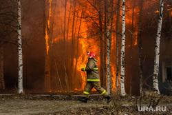 Пожар в расселенном доме, в поселке Солнечный. Сургут, пожарный, пожар, огонь, мчс