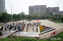 Митинг на площади Обороны против поднятия пенсионного возраста. Екатеринбург, массовое мероприятие, площадь обороны