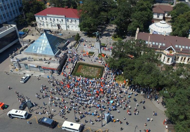 ВСтаврополе прошли митинги против поднятия пенсионного возраста