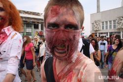 Парад зомби, шествие. Екатеринбург, грим, карнавал, зомби, треш, трэш, монстр