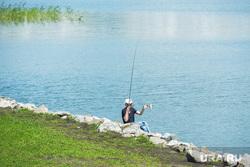 Сергей Степашин во время рабочего визита в Челябинск, рыбак, смолино, озеро