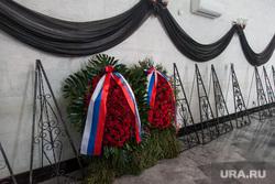 Похороны Натальи Крачковской. Москва, венки, траурный зал