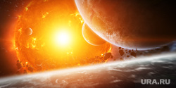 Клипарт depositphotos.com, солнце, солнечная система, планеты, солнечные вспышки, солнечный свет