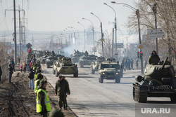 Первая репетиция юбилейного Парада Победы в Екатеринбурге на 2-ой Новосибирской, военная техника, танк, репетиция, армия россии