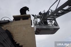 Пожар на Карла Маркса. Челябинск, пожарные, пожарная лестница