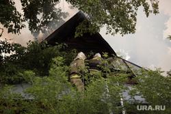 Пожар на ул. 1-ая Заводская, дом 20. Курган, пожар, пожарные