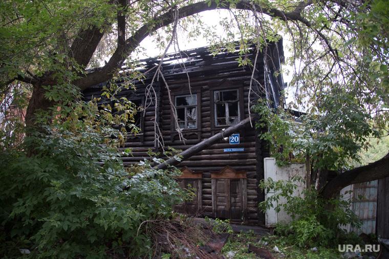 Пожар на ул. 1-ая Заводская, дом 20. Курган, сгоревший дом