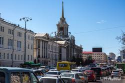Реконструкция набережной к ЧМ-2018. Екатеринбург, пробка, здание администрации