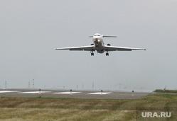 Аэропорт, споттинг. Курган, самолет, взлетная полоса, як 42, взлет самолета