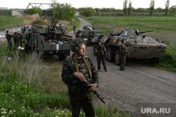 Гражданские блокируют военную технику между Краматорском и Славянском. Украина