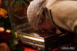 Торжественная встреча мощей священномученика Киприана и мученицы Иустинии. Екатеринбург, служба в храме, православие, религия, мощи киприана и иустинии