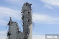 Снос недостроенной телевизионной башни. Екатеринбург, долгострой, развалины, обломки, руины, недостроенная телебашня