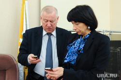 Городская дума. Челябинск., котова наталья, смотрят в телефон, тефтелев евгений