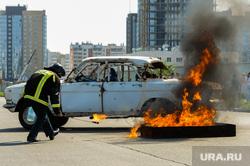 Тактико-специальные учения Скорой помощи по спасению пострадавших в ДТП. Челябинск, пожарный, пламя, автомобиль, огонь, машина