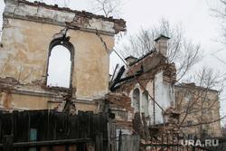 Рухнувшее нежилое здание (памятник архитектуры) по улице Советская 131. Курган, памятник архитектуры, развалины, рухнувшее здание