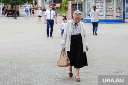 Пенсионеры на Кировке. Челябинск, пенсионерка, старушка