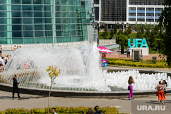 Пресс-тур в Уфу по объектам, построенным к ШОС и БРИКС в 2015 году. Уфа, фонтан, город уфа, площадь салавата юлаева, ufa