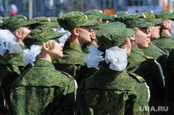 Парад Победы, торжественное построение на Площади революции. Челябинск, солдаты, армия, девушки в форме