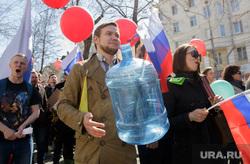 Шествие сторонников Навального. Пермь, митинг, бутыль, шествие