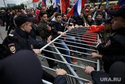 Несанкционированная акция против изменения пенсионного законодательства в Перми, ограждение, сопротивление, ограждение, протест, несанкционированный митинг