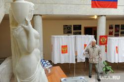 Выборы. Челябинск, пенсионер, урны для голосования, старик