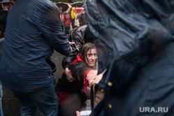 Несанкционированная акция против изменения пенсионной системы в Екатеринбурге, задержание активистов, несанкционированный митинг, акция против пенсионной реформы