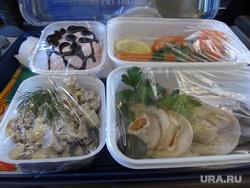 Комиссия ЦИК в Сабетте, еда в самолете, обед