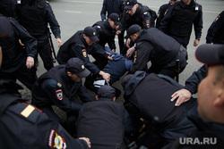 Несанкционированная акция против изменения пенсионного законодательства в Перми, арест, полиция, задержание, несанкционированный митинг