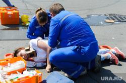 Тактико-специальные учения Скорой помощи по спасению пострадавших в ДТП. Челябинск, оказание помощи, пострадавший, спасение пострадавших в дтп