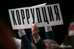 Ежегодная итоговая пресс-конференция президента РФ Владимира Путина. Москва, плакаты, коррупция, вопросы путину