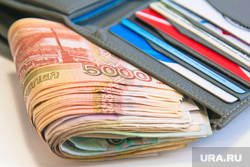 Клипарт , кошелек, кредитки, пять тысяч, денежные купюры, карточки, портмоне, деньги