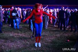 Рок-фестиваль «Нашествие-2017», первый день. Завидово, Тверь, фанаты, неформалы, косплей, рок, человек-паук, неформалы, рок, концерт, танцы