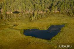Предварительное голосование на хантыйских стойбищах. Сургутский район , сердце, хмао, арктика, тайга, югра, озеро в форме сердца, с вертолета