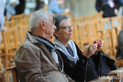 Прогулка по Нормандии. Франция, собор нотр дам де байё, счастливые пенсионеры франции