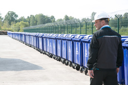 Открытие завода по сортировке мусора. Тюмень, мусорные контейнеры