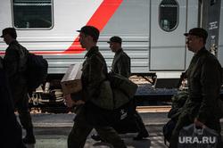 Отправка призывников на службу в Президентский полк (Кремлевский полк). Екатеринбург, поезд, железнодорожный вокзал, армия, солдаты, призывники, служба