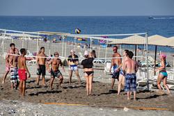 Клипарт depositphotos.com, море, волейбол, туристы, турция, жара, пляжный волейбол, кемер