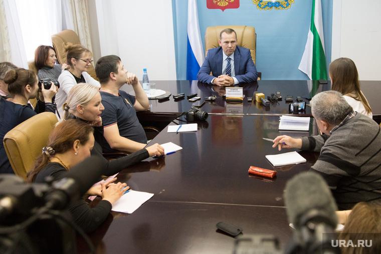Встреча врио губернатора Курганской области Шумкова Вадима со СМИ. г. Курган, шумков вадим, сми, журналисты