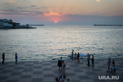 Крым., набережная, закат, море, севастополь, бухта
