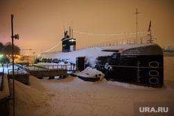 Зимняя Москва, подводная лодка, музей вмф россии